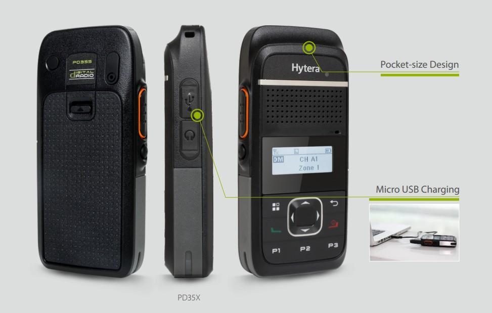 Les nouveaux talkies walkies numériques HYTERA PD355 et PD365